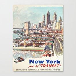 Advertisement new york par la transat compagnie Canvas Print