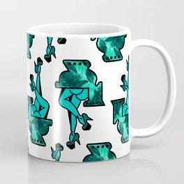 AQUA PALM TREE TOILET GIRL Coffee Mug
