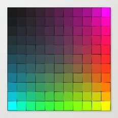 Rainbow squares Canvas Print