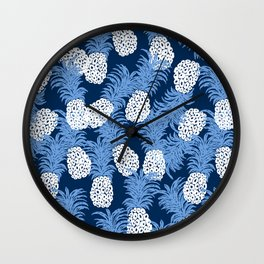 different pineapples Wall Clock