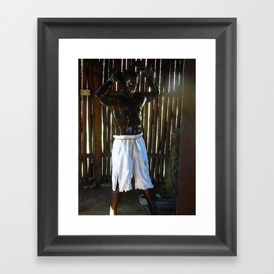 African Slave Sculpture Framed Art Print