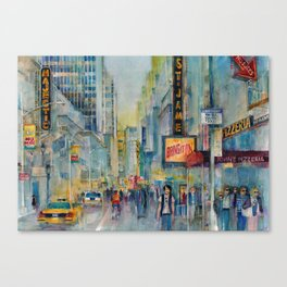Broadway,  New York - Five O'Clock Revised Canvas Print