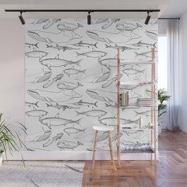 The deep Sea- Whale-Shark,Fish- Ocean Animals Wall Mural