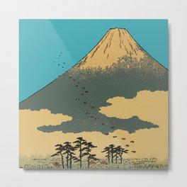 Hiroshige Mt. Fuji Metal Print
