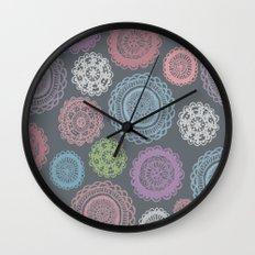 Doily Doodles Wall Clock