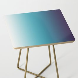 Blue White Gradient Side Table
