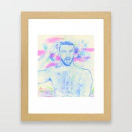 Boy: Black Belt Framed Art Print