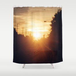 Golden Milk Sky Shower Curtain
