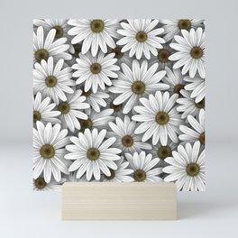 Daisies pattern Mini Art Print