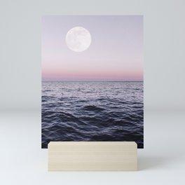 Ocean Moon Sunset Mini Art Print
