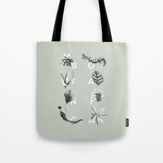 Botanica Letters | Pale Green Tote Bag