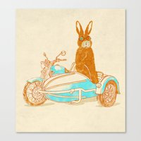 potter Canvas Prints featuring Hare Potter by Rodrigo Ferreira