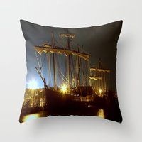 ships Throw Pillows featuring Tall Ships by Forand Photography