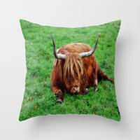 buffalo Throw Pillows featuring buffalo by  Agostino Lo Coco