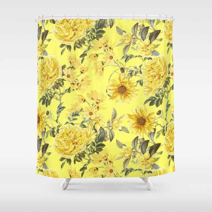 Yellow Summer Flowers Garden Shower