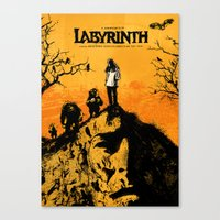 labyrinth Canvas Prints featuring Labyrinth by Dan K Norris