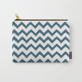 Chevron Teal Carry-All Pouch