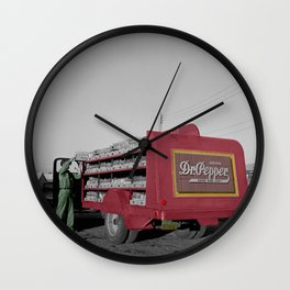 Vintage Dr Pepper Truck Wall Clock