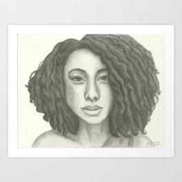Corinne Bailey Rae Pencil Portrait Art Print