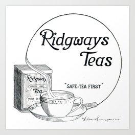 Ridgway Teas Art Print