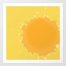 Splat on Yellow - by Friztin Art Print