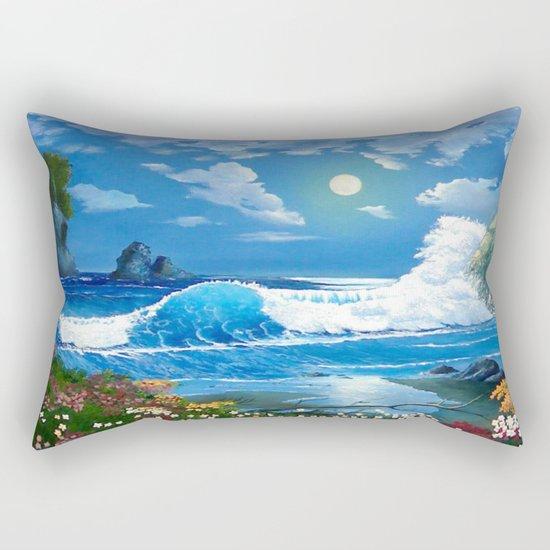 Sea Landspace Rectangular Pillow
