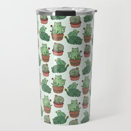 Cacti Cat pattern Travel Mug