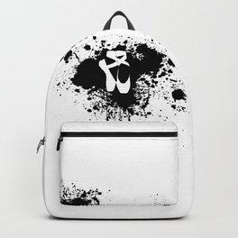 Ballet Slipper Splatter Painting Backpack