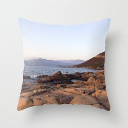 Sunrise in Corsica Throw Pillow