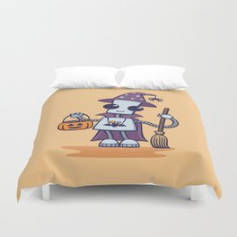 Ned's Halloween Witch Duvet Cover