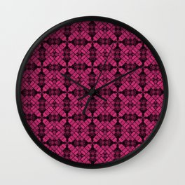 Pink Yarrow Quilt Wall Clock