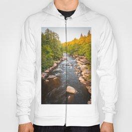 Blackwater Falls State Park West Virginia River Sunset Landscape Print Hoody