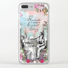 Excellent Library - Pride and Prejudice Clear iPhone Case
