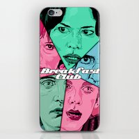 the breakfast club iPhone & iPod Skins featuring Breakfast Club Colors by David Amblard