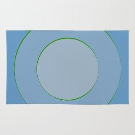 Blue hypnotism Rug