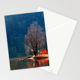 Gone fishing | waterscape photography Stationery Cards
