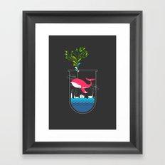 Nature Whale Framed Art Print