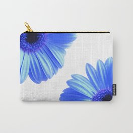 Blue Gerbera Flowers Carry-All Pouch