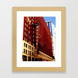 Vintage Chicago: Cadillac Palace theatre photography Framed Art Print