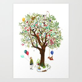 Algarrobo Tree Art Print