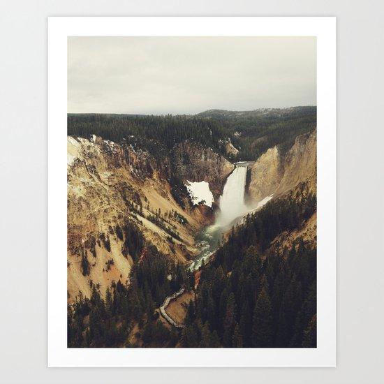 Yellowstone Falls Art Print