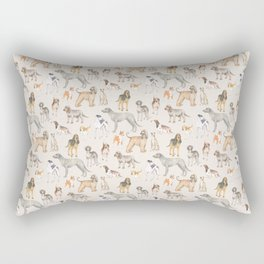 Hound dogs pattern on neutral background Rectangular Pillow
