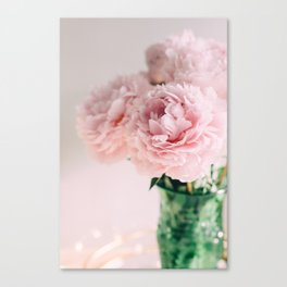 Blush Peonies Canvas Print