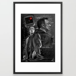 Person of Interest Framed Art Print