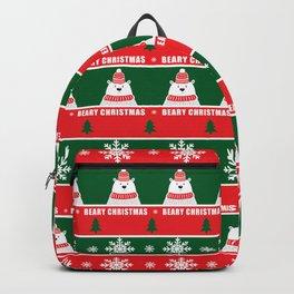 Beary Christmas / Festive Christmas Bears Trees Snowflakes Backpack
