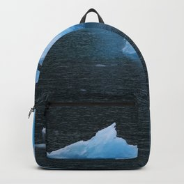 Blue Icebergs Of Alaska Glacier Backpack
