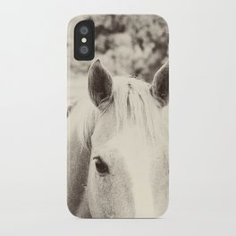 Black and White Palomino iPhone Case