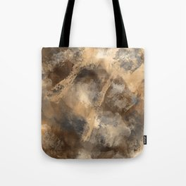 Stormy Abstract Art in Brown and Gray Tote Bag