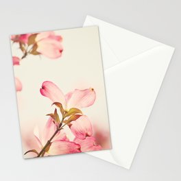 Dogwood Spring Flower Photography, Pink Coral Salmon, Floral Nature Tree Branch, Blossoms Stationery Cards