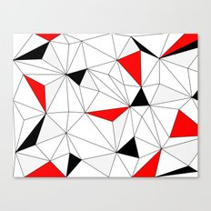 Geo - red, gray, black and white. Canvas Print